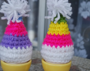 Easter decoration,set of 2 egg hat.