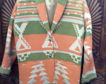 Chris O'Connell Spider Woman Design Vintage Native American Indian Coat