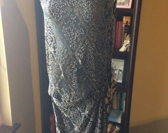 CLEARANCE!!!!    Glorious 1920s Art Deco Beaded French Flapper Dress