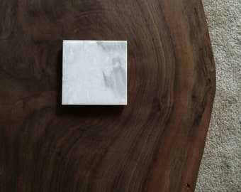 "Carrara Marble Coasters 4""x4"" set of 3"