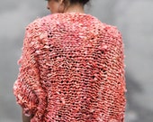 Chunky Knit Sweater Chunky Sweater Hand Knit Cocoon Sweater Chunky Cardigan Recycled Silk