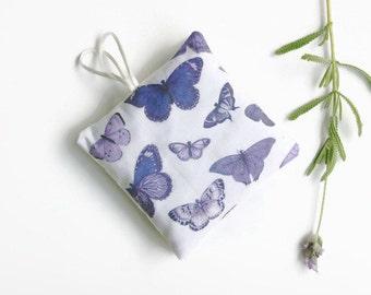 Lavender Sachets -  Set of 2 - Butterflies Mauve Organic Lavender Pillows - Mother's Day Gift