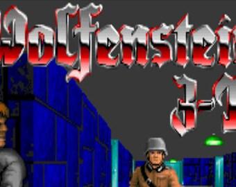 Cross-stitch- Pattern only- Wolfenstein 3D video game, classic video game, classic cross stitch, nerd cross stitch, geek cross stitch