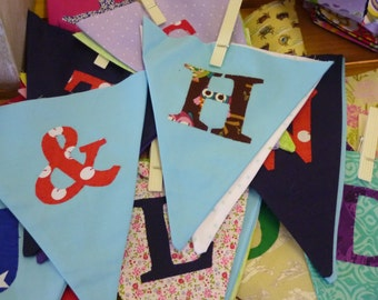Mix & Match Personalised Bunting Made to Order