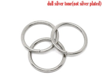 200 Jump Rings - WHOLESALE - Antique Silver - 12mm - Open - 15 Gauge - 1.5mm - Ships IMMEDIATELY from California - F229B