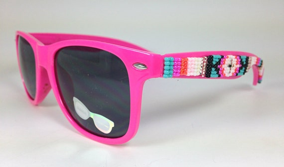 Beaded Sunglasses Hot PinK