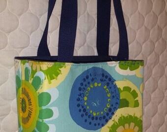 Floral burst canvas bag