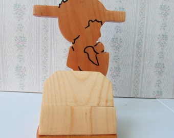 Praying Child Wood Cross Picture Stand