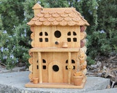 Porch Birdhouse, wood and wine corks