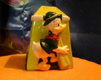Vintage Disneyana WDP Donald Duck Safari coin bank Walt Disney Productions /piggy bank