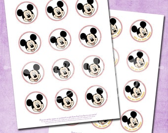 DIY Mickey Mouse Party Circles - INSTANT Download