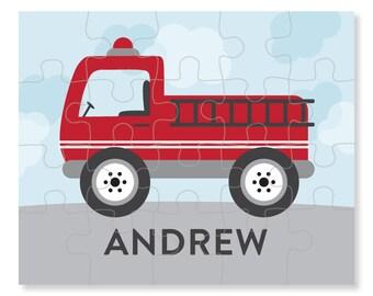 Fire Truck Puzzle - Personalized Puzzle for Kids - Jigsaw Puzzle - Children Puzzles - Personalized Name Puzzle - 8 x 10 puzzle, 20 pieces