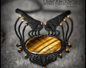 Tiger Eye Macrame necklace