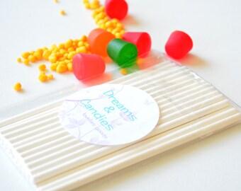 "25 Lollipop Stick - Cake Pop Stick- Cake Cup Topper Stick- on size 4.50"" and 6"""