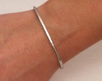 Hammered Cuff Bracelet, Sterling Silver (350str.s)