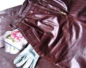 Vintage Leather Tahari Pants Women