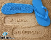 Custom Bride Flip Flops Personalized Wedding Bridal Name *Check size chart before ordering*