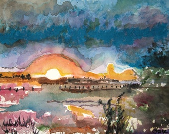MIDNIGHT SUN by CROME  Mixed Media  Free Shipping