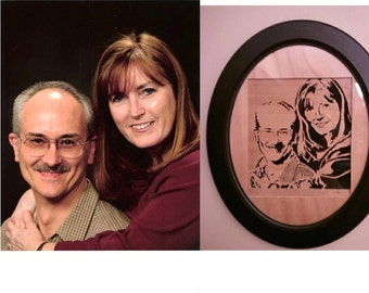 Custom Wooden portraits with Frame Shipping included