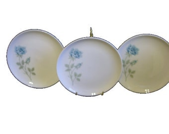 Lot of 3 Saucers, Syracuse China Concord Rose, FREE SHIPPING