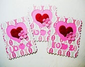 3 Postage Stamp Embellishments, die cuts