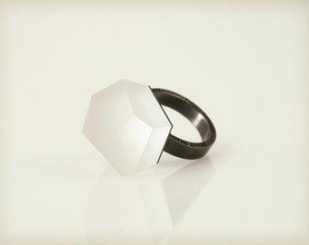 Vu – crystal clear, black rhodium ring -=PYO=-
