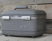 Vintage Gray American Tourister Travel Case