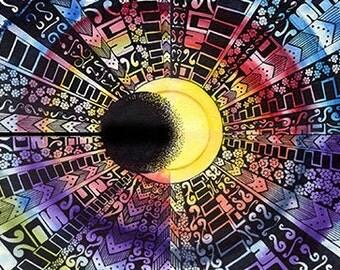 8X11 abstract art, digital download of an original
