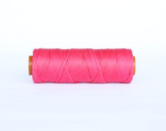 1 spool waxed cord, 100 meters fuschia Waxed  Cord, Jewelry thread, Beading Thread, Book binding, Macrame Cord,  waxed cord Macrame Thread
