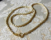 Trifari gold braid necklace.  Retro.
