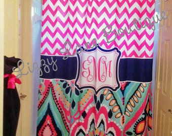 Custom Personalized Monogrammed Shower Curtain - FREE SHIPPING
