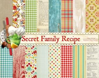 Secret Family Recipe Paper Set