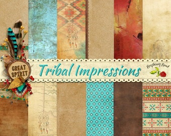 Tribal Impressions Paper Set