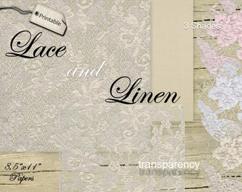LACE and LINEN Overlays Digital TRANSPARENT Textured Background Papers for Photographer Scrapbooking CardMaking Rosy Beige White Pink Pack01