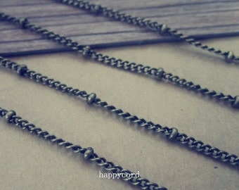 16ft  antique bronze bead chain with lobster clasp 3mm