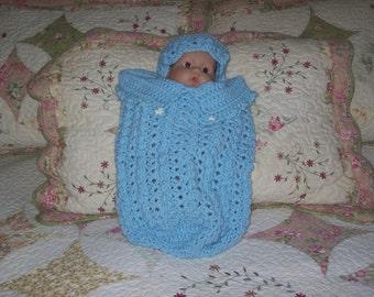 Baby,Boy,Infant,Newborn,Sleepsack,Cocoon,Gift,Shower,Photo Prop,Crocheted,Hat