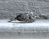 Vintage Platinum Diamond Art Deco Engagement Ring - 0.79ct
