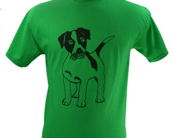 Jack Russell Terrier Dog T-Shirt Screen Printed Men's S M L XL 2XL