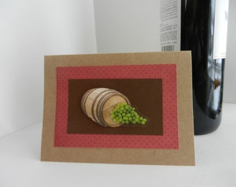 Wine Greeting Card perfect for gifting wine - thank you, hello, thinking of you, hostess gift, girlfriend or any greeting