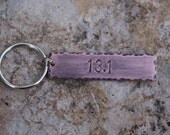 Copper Handstamped Personalized key chain