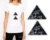 2 PCS Iron On Triangle Patch Applique for Fashion Embellishments