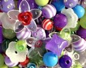 200 ct Disney Princess Little Mermaid Ariel Inspired Bead Assortment - DIY Bracelet Necklace Earring Bead Set Birthday Favor Gift