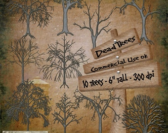 Dead Trees Digital Scrapbook Kit