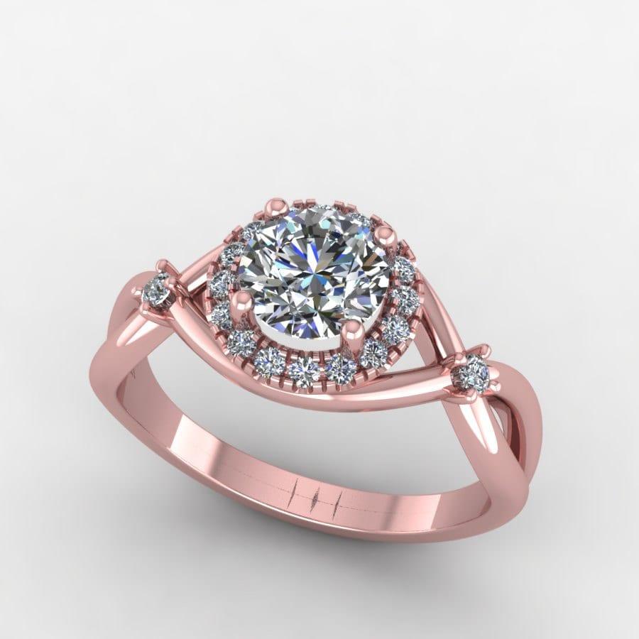 gold engagement ring halo by fabiandiamonds