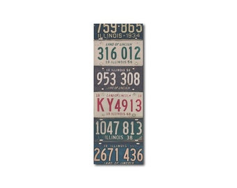 Vintage Illinois License Plates Bookmark | Stocking Stuffer | Gifts Under 5 | Book Lover | Chicago