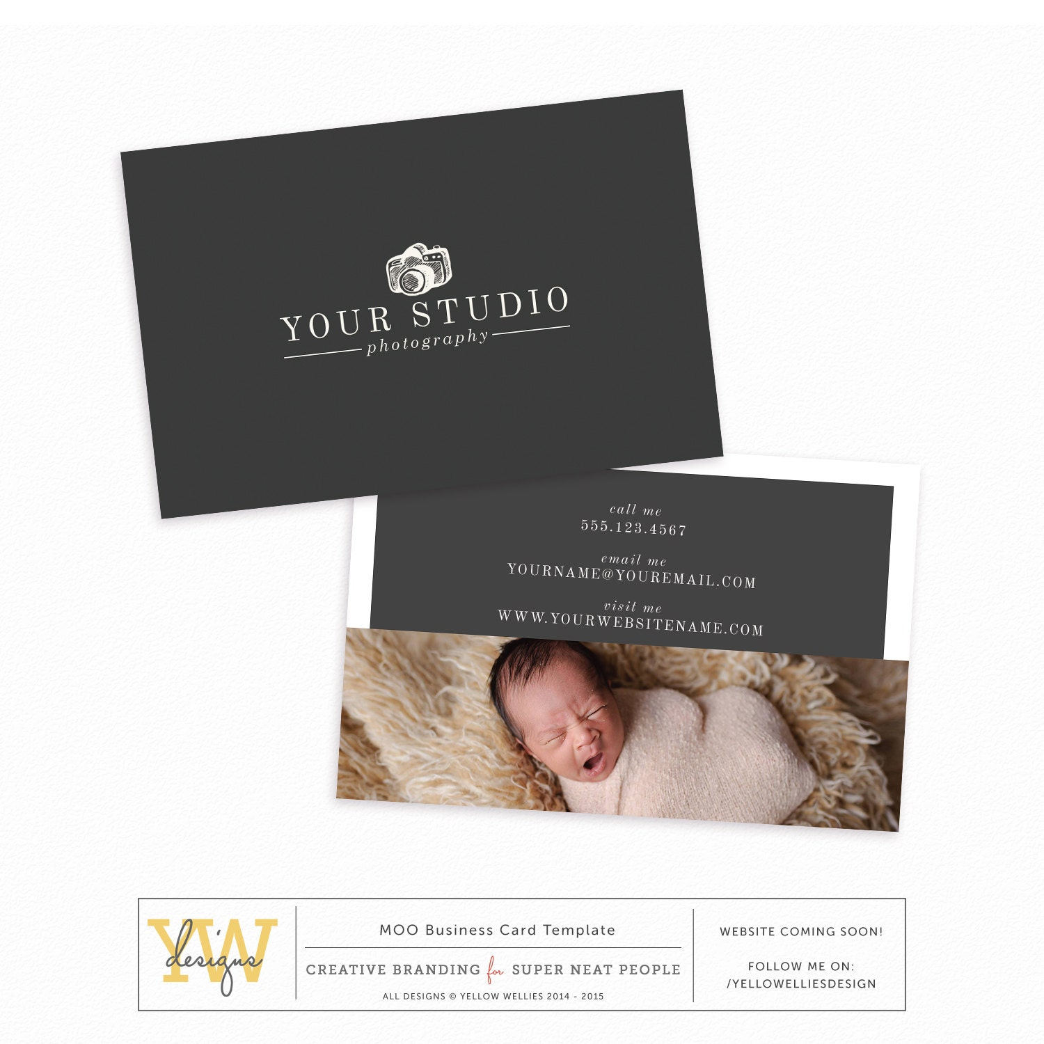 Business card template photography marketing moo template for Moo business card template