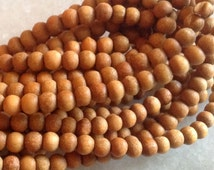 Sandalwood Beads 3mm 5 Strands Hand Carved from Rajasthan India Wholesale Bulk Premium Beads SB0003
