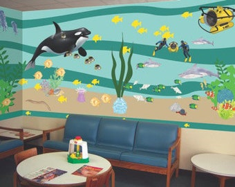 Deep Sea Adventure Vinyl Classroom Mural Kit