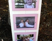 Distressed Picture Frame, Triple 5x7 Picture Frame, Christmas Gift, Perfect Gift, Baby's Room, Collage Frame