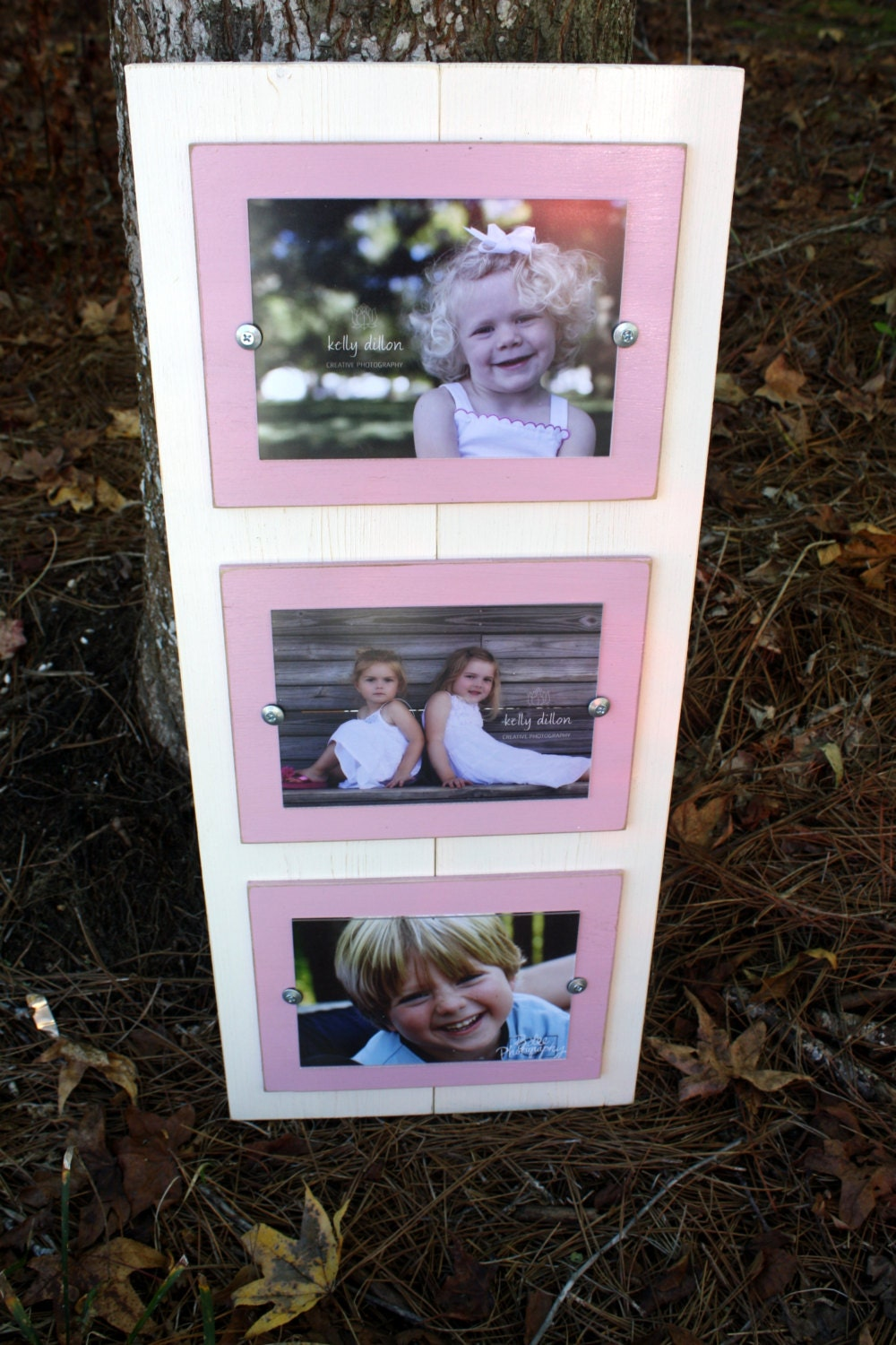 distressed picture frame triple 5x7 picture frame christmas. Black Bedroom Furniture Sets. Home Design Ideas